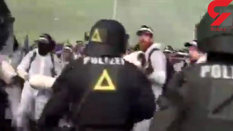 درگیری پلیس و معترضان به برگزاری نشست سران گروه بیست در آلمان + فیلم