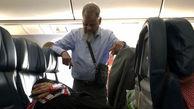 اقدام عجیب  وفداکارانه مرد مسن برای راحتی همسرش+عکس
