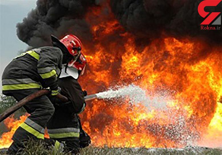 انبار ضایعات پلاستیکی در آتش سوخت / در تهران رخ داد