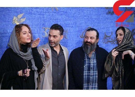 قهقهه شقایق دهقان، مهراب قاسمخانی و پیمان معادی روی فرش قرمز+عکس