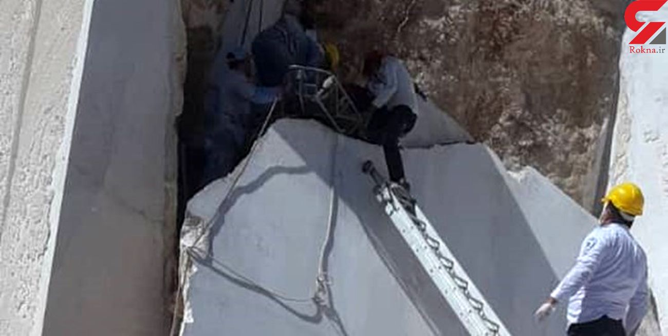 ریزش سنگ در معدن مرمریت خوسف / یک کارگر مصدوم شد + عکس