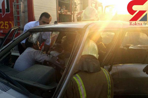 حادثه در بزرگراه تهران-کرج / 5 تن مصدوم شدند + عکس