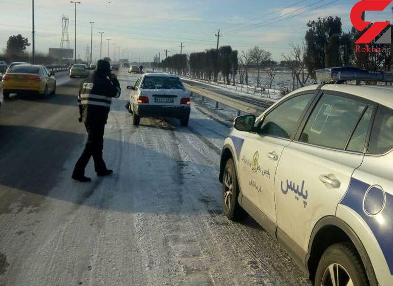 تصادف زنجیرهای 6 خودرو در آزادراه خلیج فارس / صبح امروز رخ داد