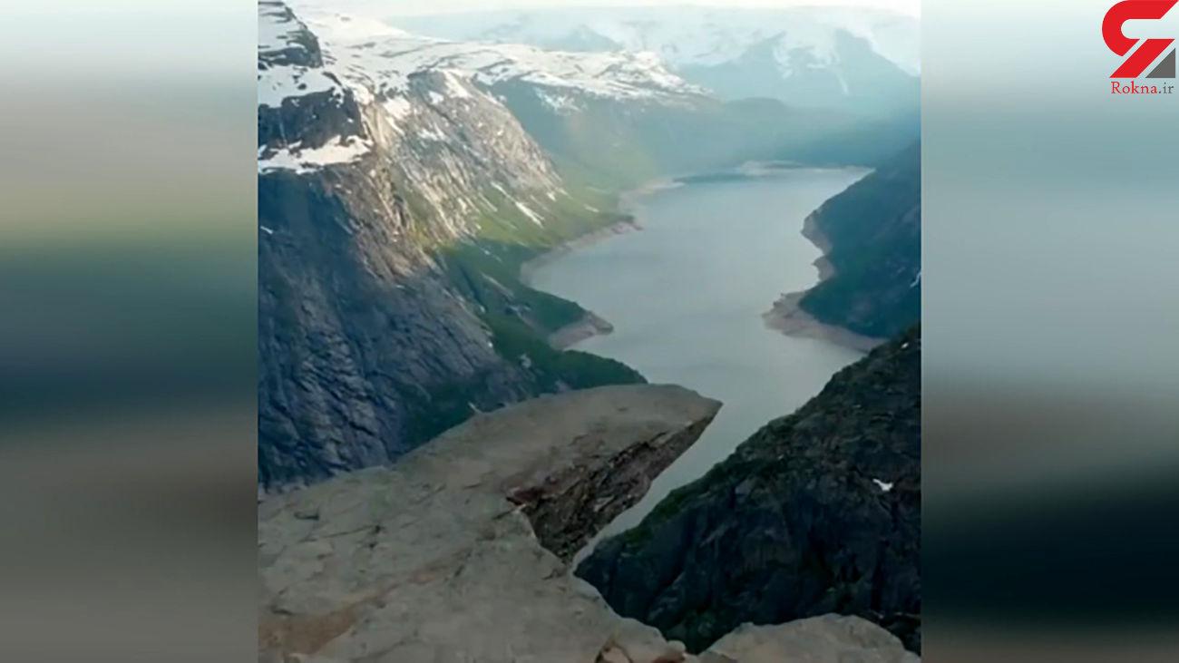 این صخره 10 هزار سال قدمت دارد + فیلم
