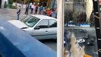 فیلم لحظه سقوط غول آهنی در سعادت آباد / راننده پژو 2 ثانیه با مرگ فاصله داشت !