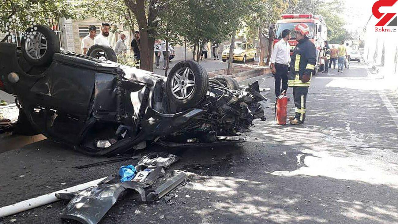 سقوط وحشتناک ساینا در تبریز  یک مصدوم بر جا گذاشت+ عکس