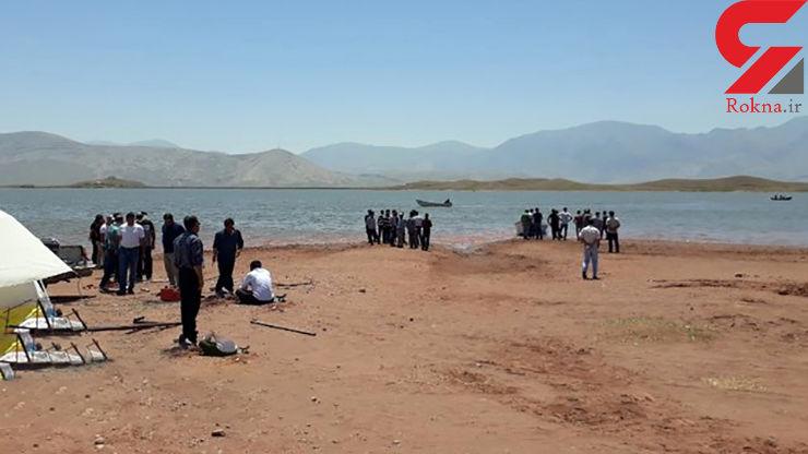 ادامه جستجو برای یافتن جسد مرد غرق شده در سد ماکو + عکس