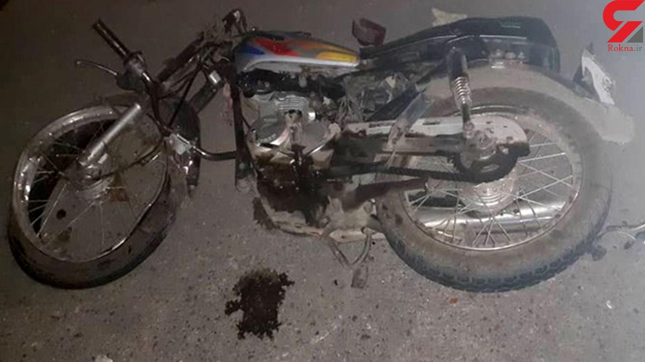 برخورد مرگبار موتورسیکلت با کامیون در البرز