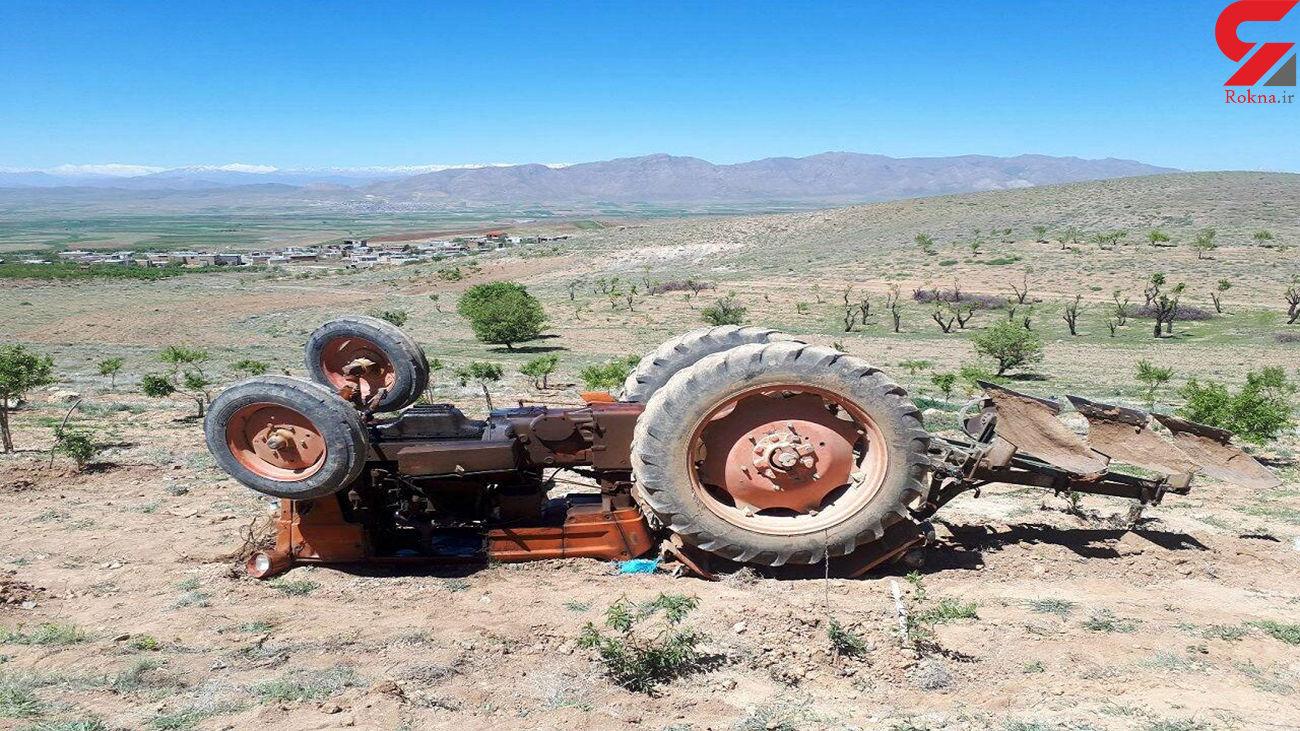 واژگونی تراکتور در کبودراهنگ جان راننده را گرفت