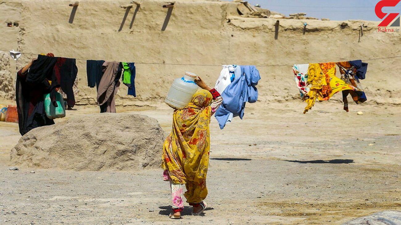 کولبری زنان 290 روستای بلوچستان برای تامین آب + فیلم