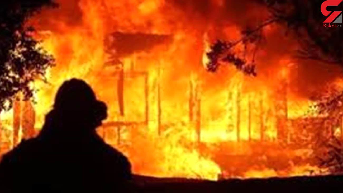 2  آتش سوزی هولناک در محله کلاته سیفر سبزوار