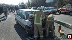 مصدومیت دو نفر در تصادف دو خودرو