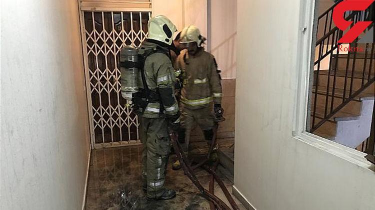 آتش به جان ساختمان مسکونی در بلوار فردوس افتاد+عکس