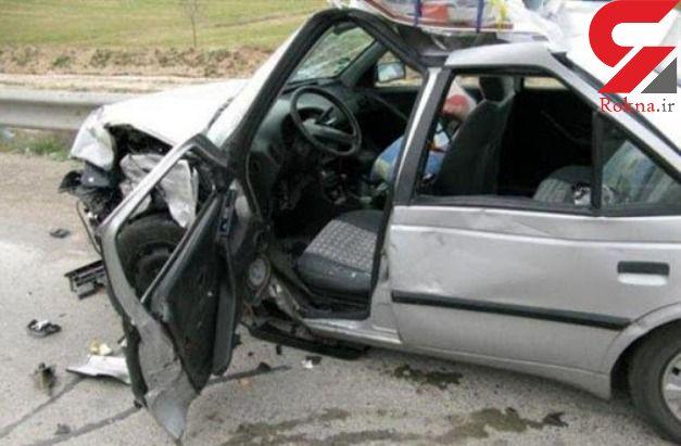 یک کشته و 2 مجروح در تصادف کامیون با پژو در فارس