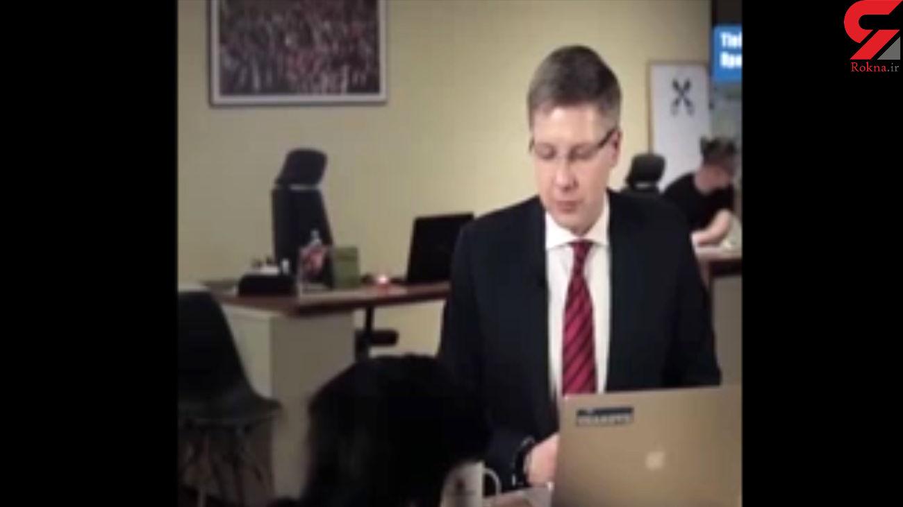 فیلم لحظه ورود گربه به برنامه زنده شهردار