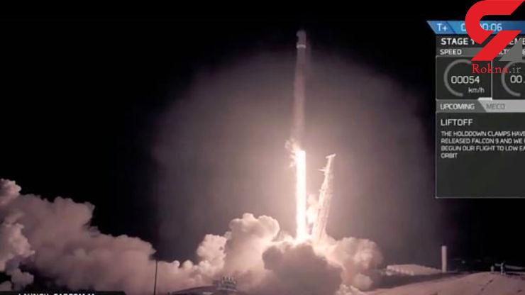 فرود موشک اسپیس ایکس در کالیفرنیا +عکس