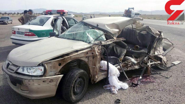 صحنه تلخ از تصادف مرگبار دو خودرو در جاده سنگان+تصاویر