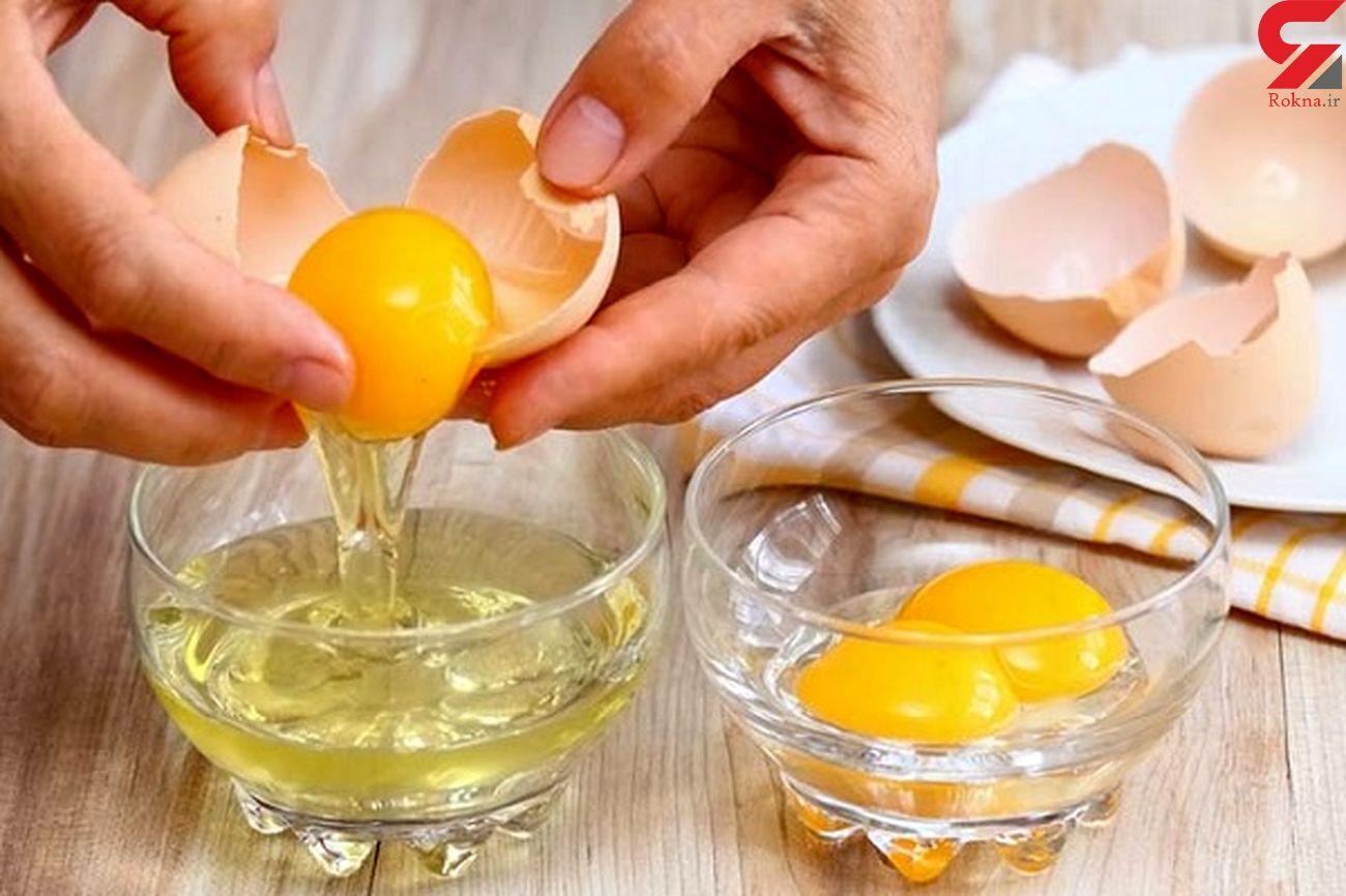 زرده تخم مرغ راه خلاص شدن از شپش موی سر