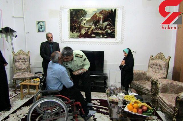 """دیدار فرمانده انتظامی """"داراب"""" با یک جانباز جنگ تجمیلی"""