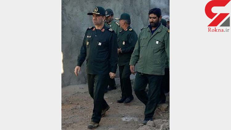 حضور یک فرمانده سپاه در مناطق زلزله زده میانه +عکس