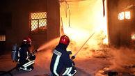 آتشسوزی مهیب کارخانه بزرگ در مشهد