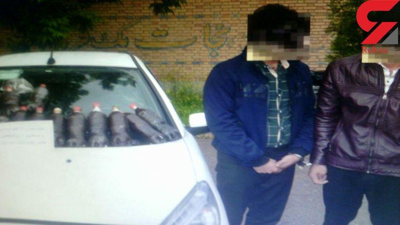 دستگیری 2 جوان افیونی با بار تریاک در قوچان + عکس