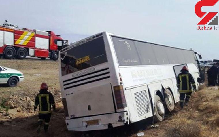 واژگونی مرگبار اتوبوس در سیستان و بلوچستان