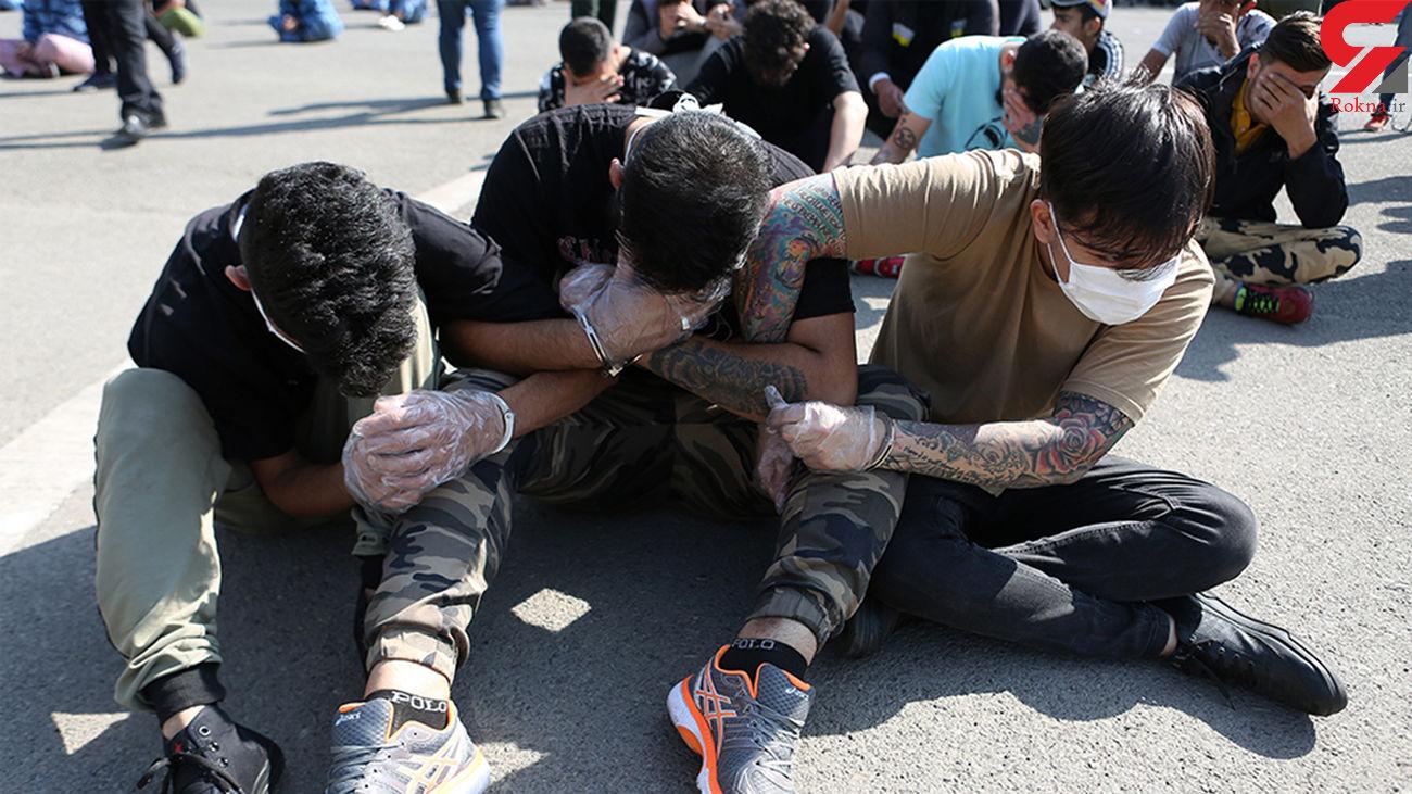 جمع آوری 51 معتاد متجاهر در کوه چنار