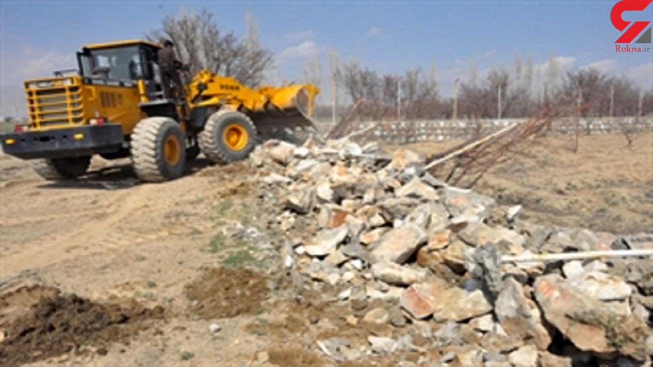 آزاد سازی 35 هکتار از اراضی ملی و باغی در کرج