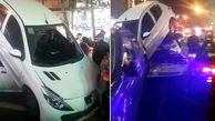 فیلم تصادف عجیب به علت سکته ی ناگهانی راننده در شریعتی تهران+ عکس