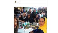 جشن تولد خانم بازیگر همراه با ستاره های زن +عکس