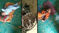 زندگی دو کودک معلول در خانه خشت و گلی مادربزرگ/ نیاز این کودکان بلوچستانی به معاینه توسط پزشک متخصص + فیلم