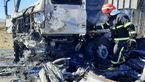 آتش سوزی خودرو در جاده ساوه / یک نفر کشته شد