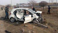 3 کشته در ماشین مچاله + عکس باورنکردنی