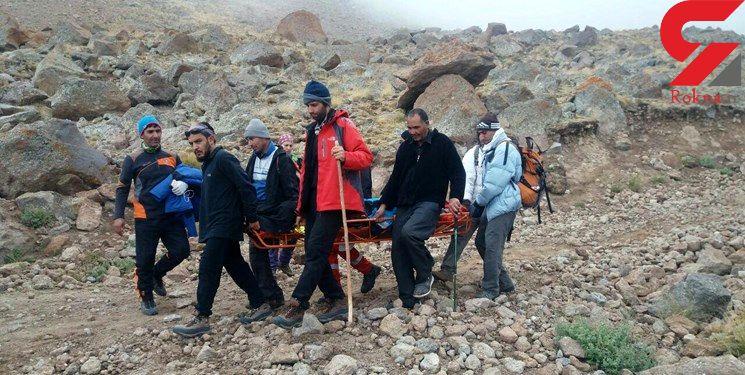 سقوط زن 42 ساله در ارتفاعات کوه سبلان + عکس