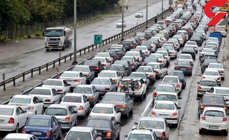 ترافیک نیمه سنگین در آزادراه تهران- کرج