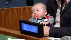 حضور یک نوزاد برای اولین بار در مجمع عمومی سازمان ملل متحد ! + عکس