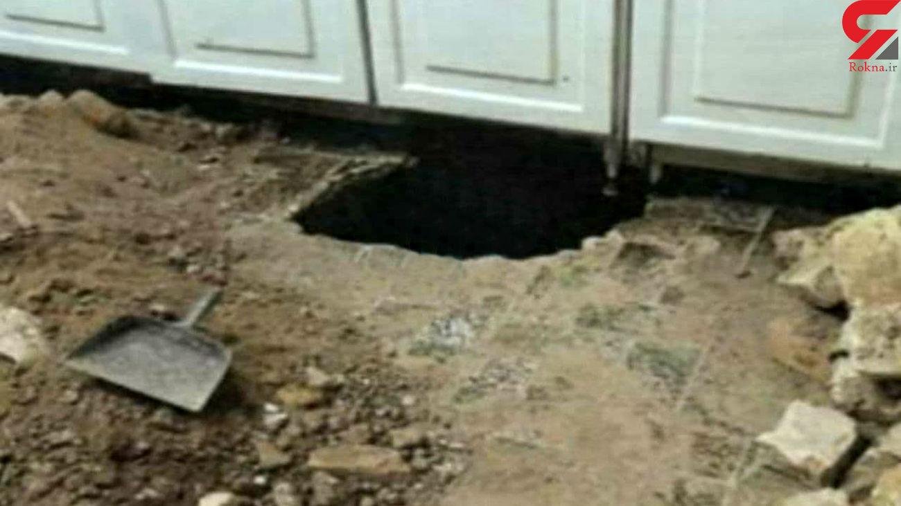 حفر تونل برای سرقت در یزد