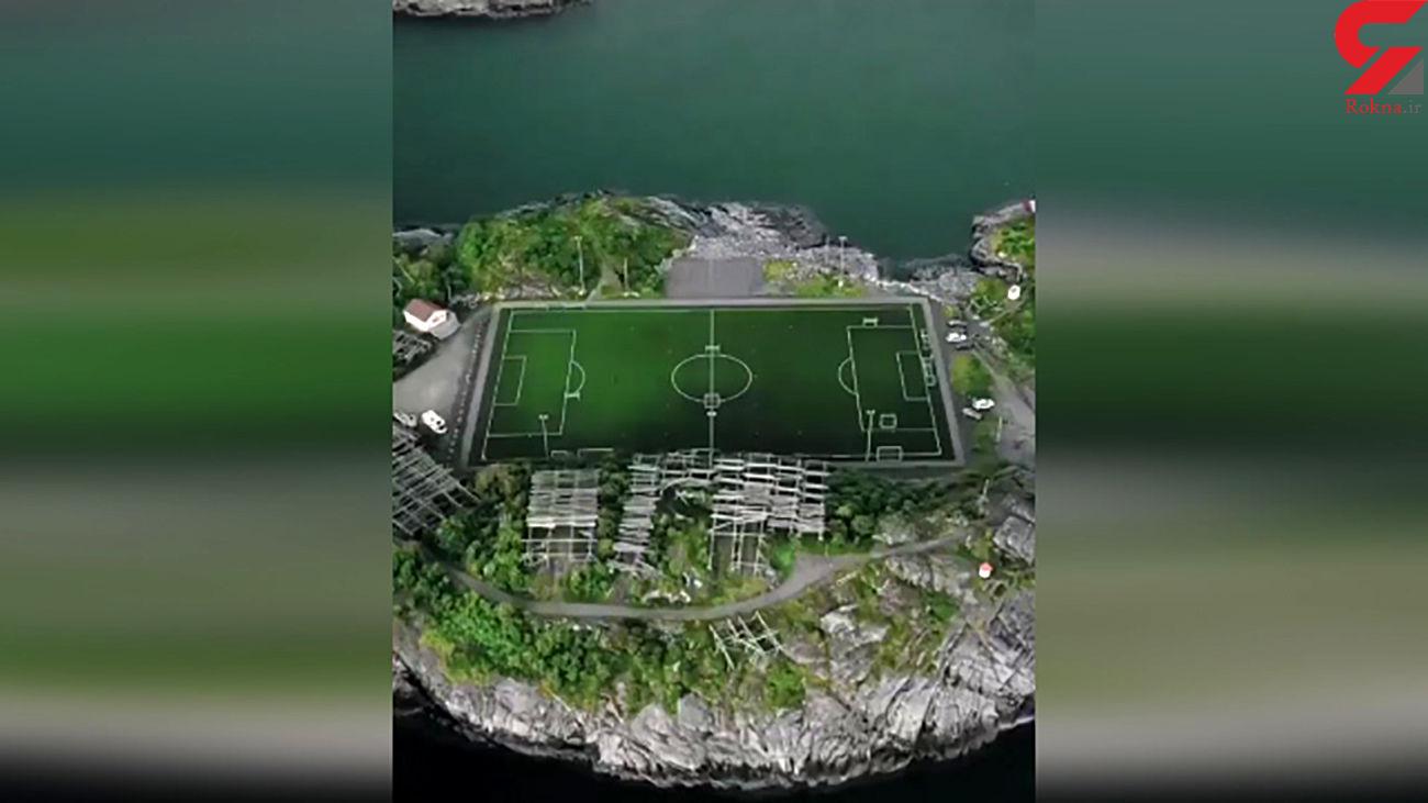 استادیوم شناور روی آب چه شکلی است؟ + فیلم