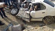 عکس دردناک از جسد سرنشین یک سمند در کنار خودرو له شده
