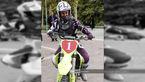 موتور سواری یک زن در دانشگاه پیام نور + عکس