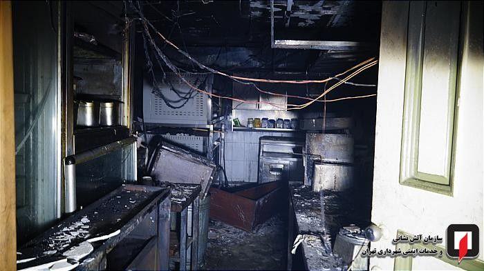 آتش سوزی فجیع در خیابان بهشتی تهران