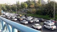 ترافیک سنگین در اکثر محورهای بزرگراهی تهران