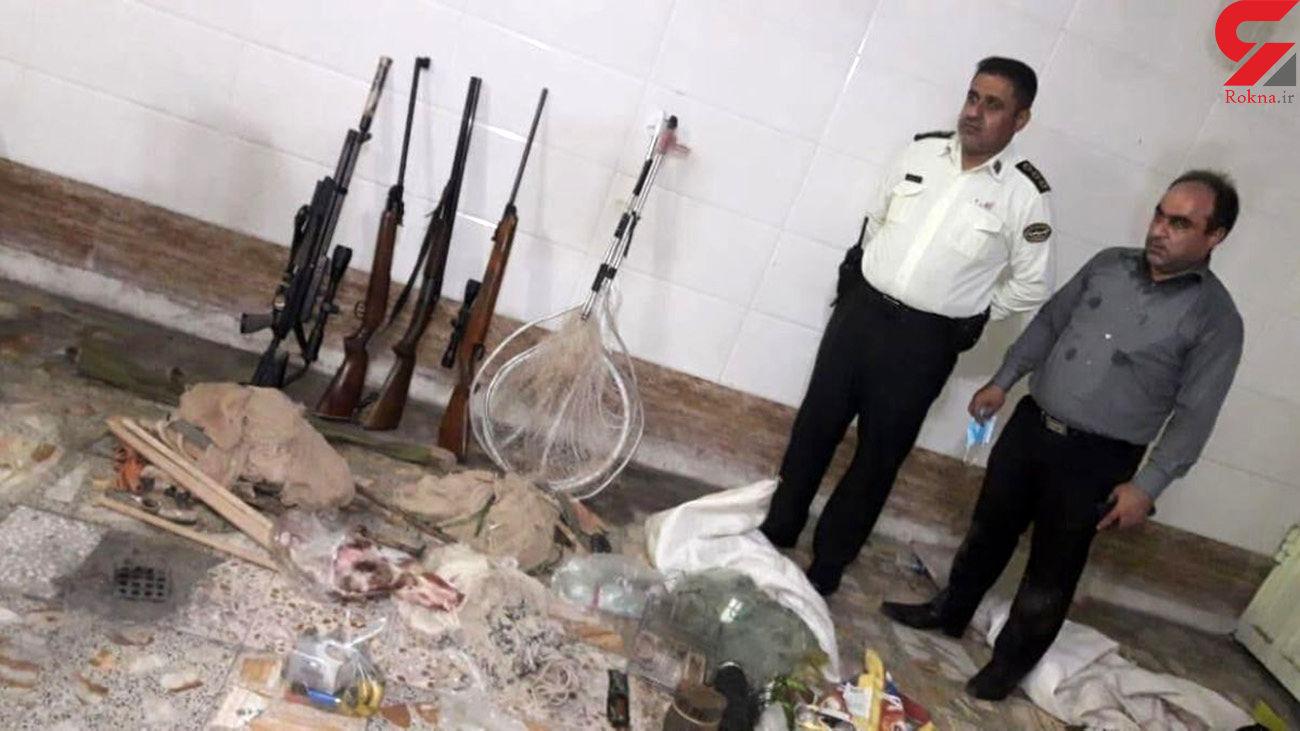 دستگیری 2 صیاد و یک شکارچی متخلف در دزفول