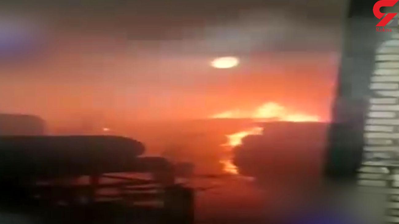 فیلم آتش سوزی گسترده در راوند کاشان + جزییات