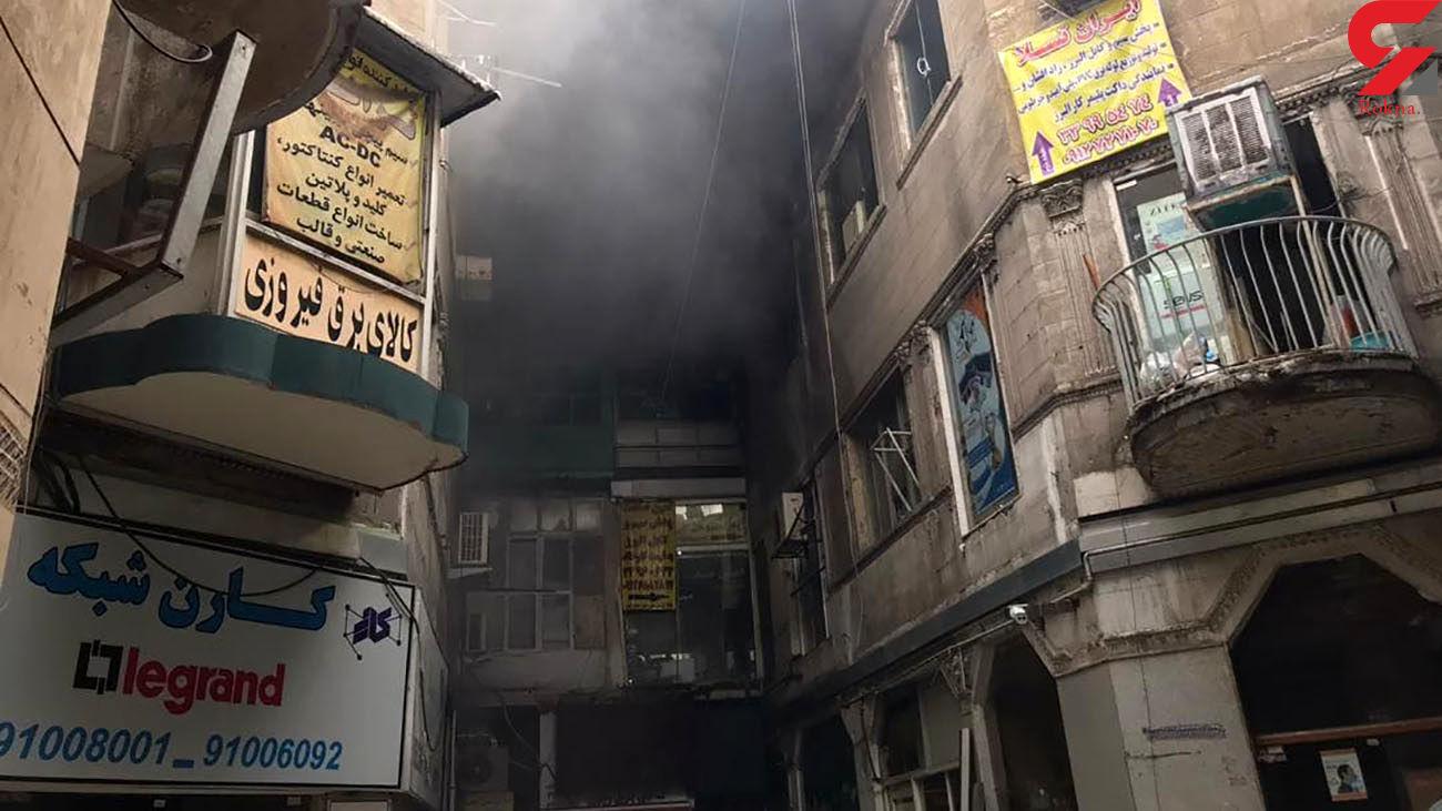 آتش سوزی هولناک در لاله زار + فیلم و عکس
