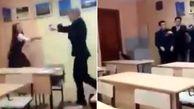 کتک خوردن شدید دانش آموز دختر در کلاس درس!  + فیلم