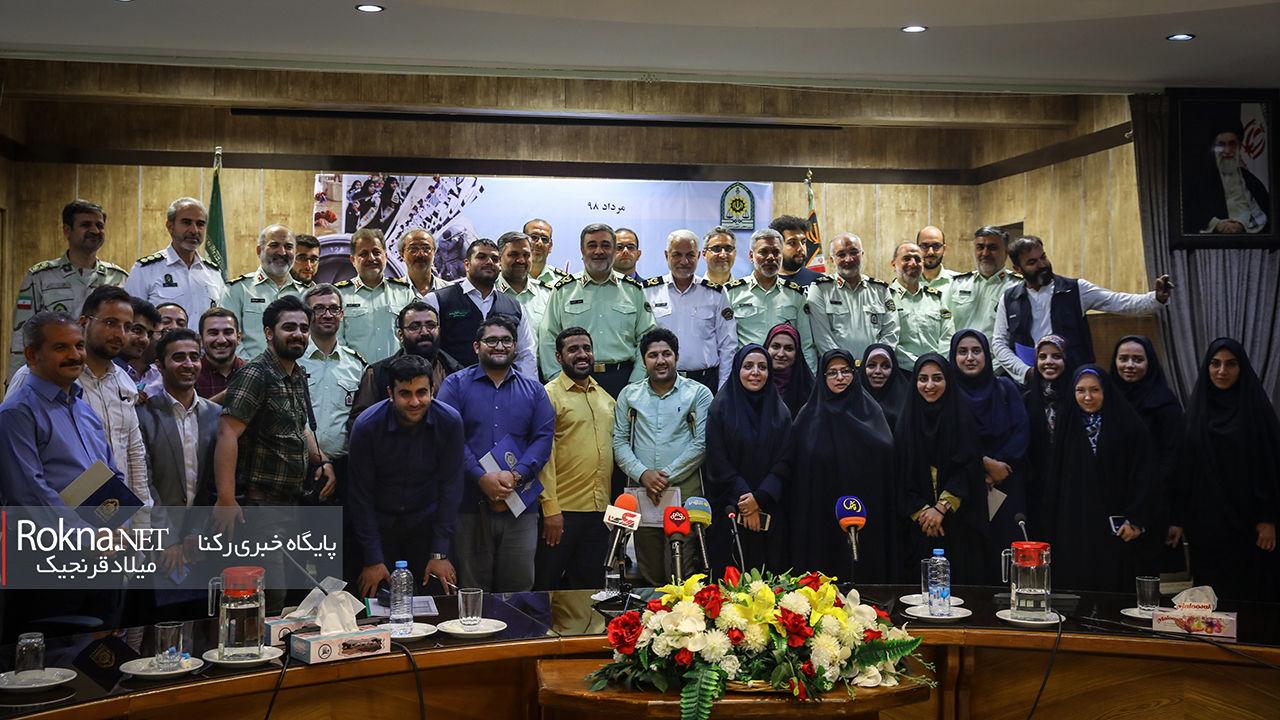 گزارش تصویری مراسم روز خبرنگار در مرکز فرماندهی نیروی انتظامی