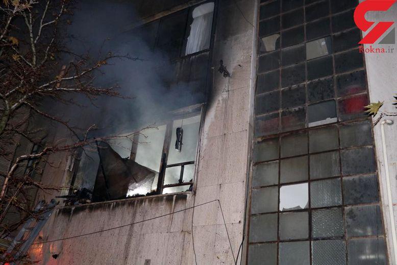 خانه ای در دهلران آتش گرفت