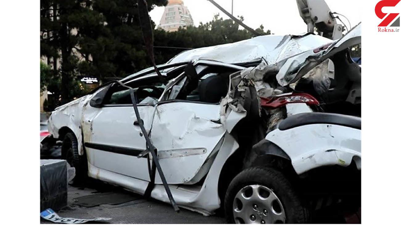 یک کشته و 5 زخمی به دلیل واژگونی206 در سمنان